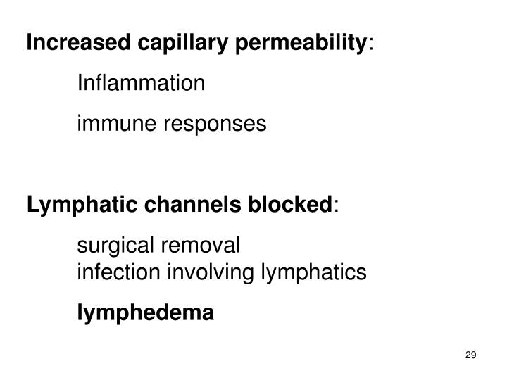 Increased capillary permeability
