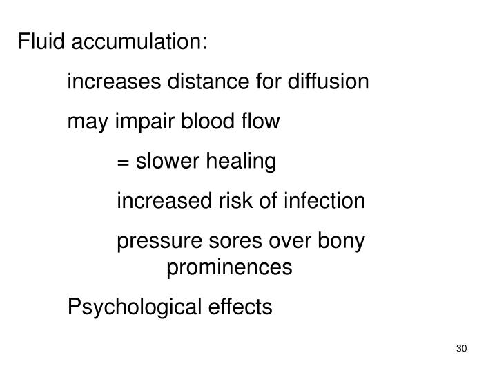 Fluid accumulation: