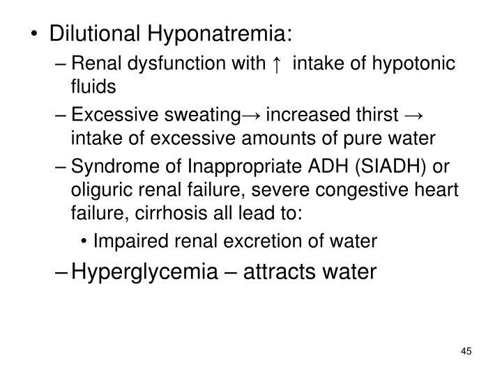 Dilutional Hyponatremia:
