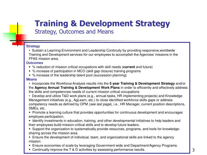 Training & Development Strategy