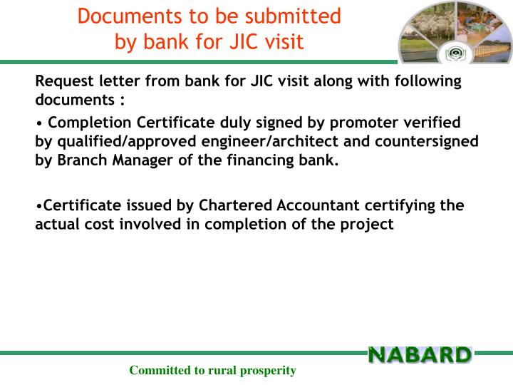 Documents to be submitted