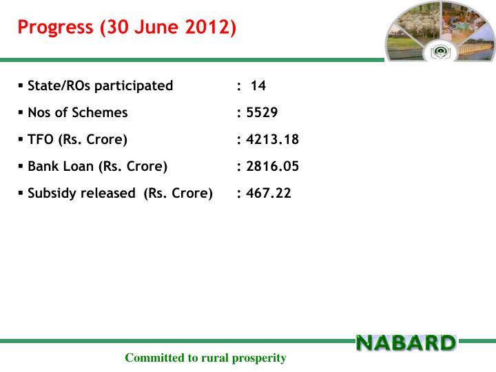 Progress (30 June 2012)