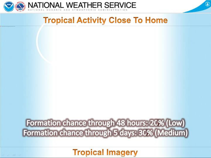 Tropical Activity Close To Home