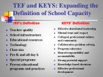 tef and keys expanding the definition of school capacity