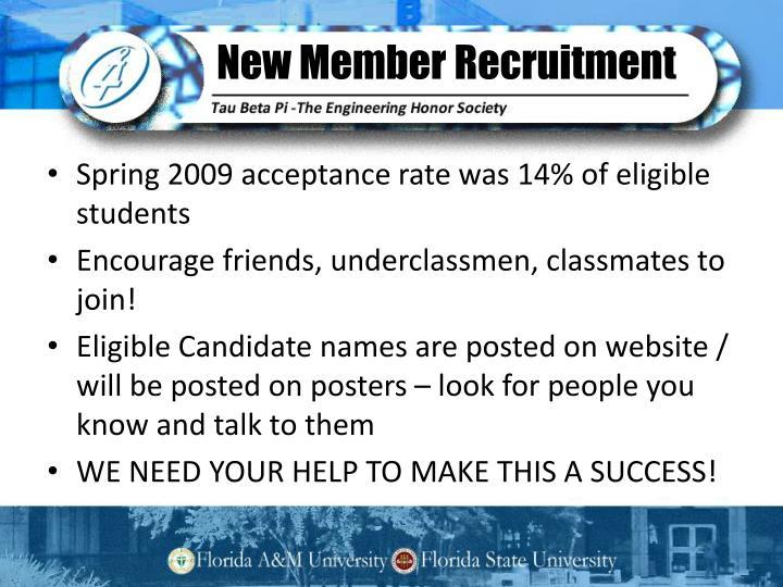 New Member Recruitment