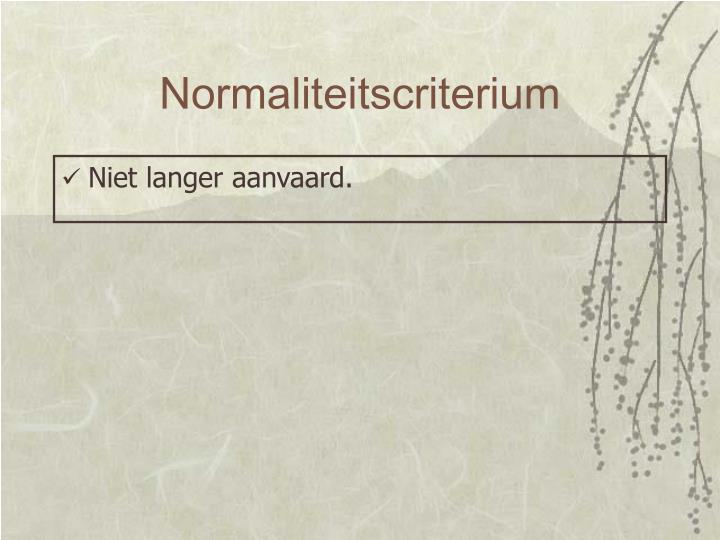 Normaliteitscriterium