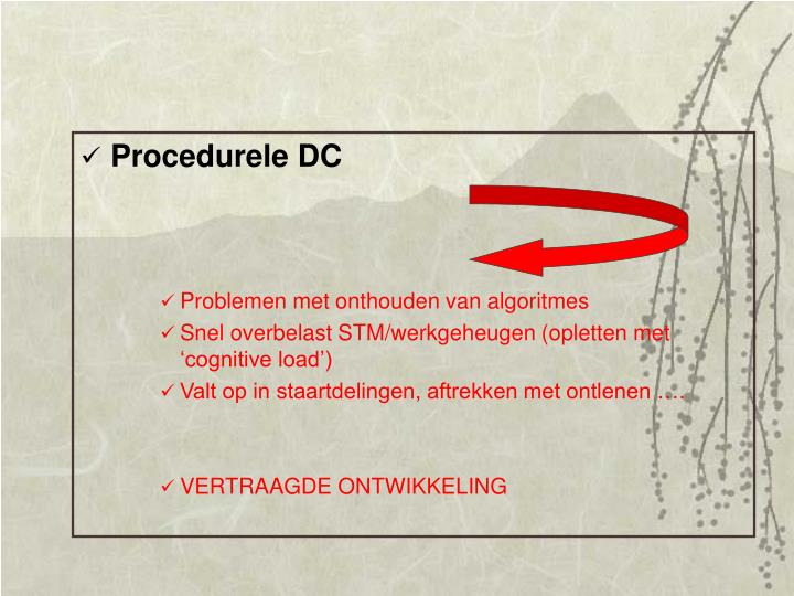 Procedurele DC