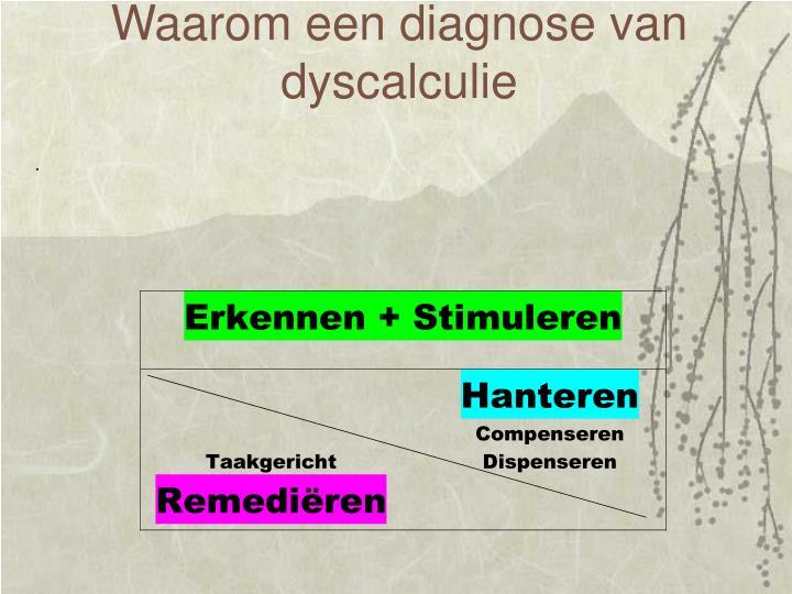 Waarom een diagnose van dyscalculie