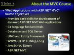about the mvc course