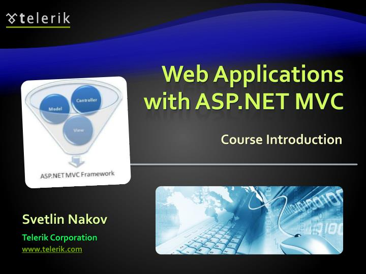 Web applications with asp net mvc