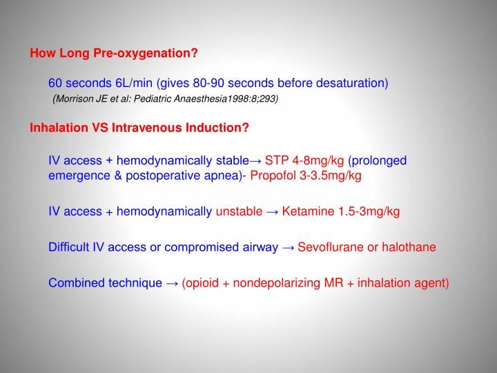 How Long Pre-oxygenation?