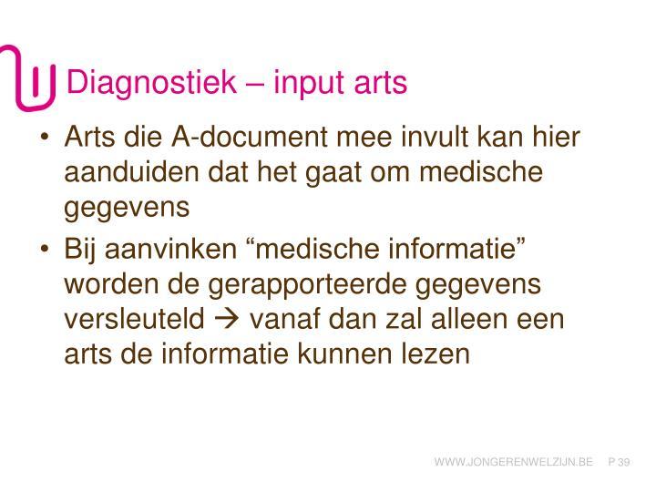 Diagnostiek – input arts