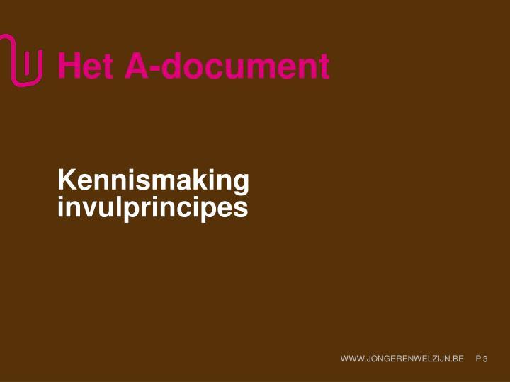 Het A-document
