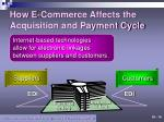 how e commerce affects the acquisition and payment cycle
