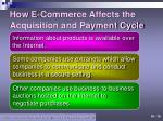 how e commerce affects the acquisition and payment cycle1