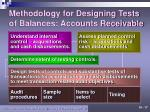 methodology for designing tests of balances accounts receivable