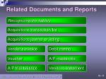 related documents and reports1