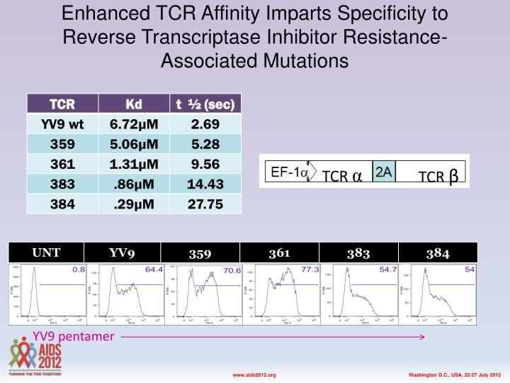Enhanced TCR Affinity Imparts Specificity to Reverse Transcriptase Inhibitor Resistance-Associated Mutations
