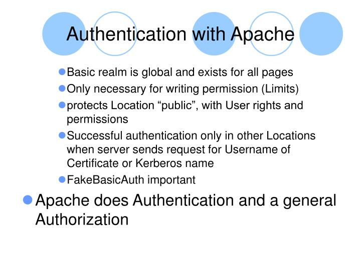 Authentication with Apache