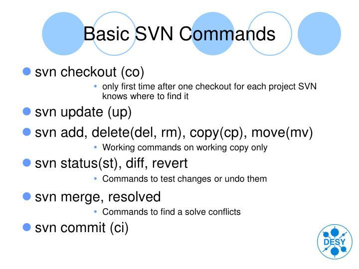 Basic SVN Commands