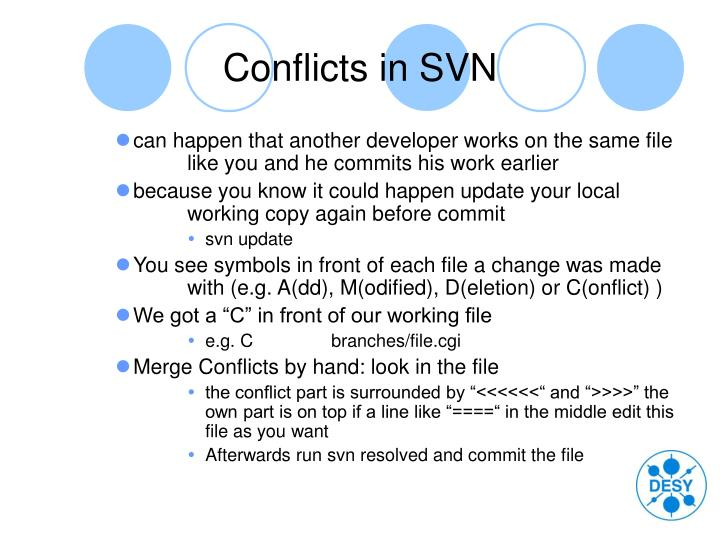 Conflicts in SVN