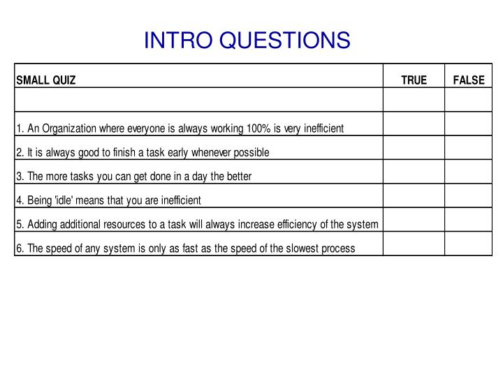 INTRO QUESTIONS