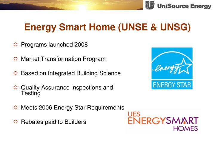 Energy Smart Home (UNSE & UNSG)