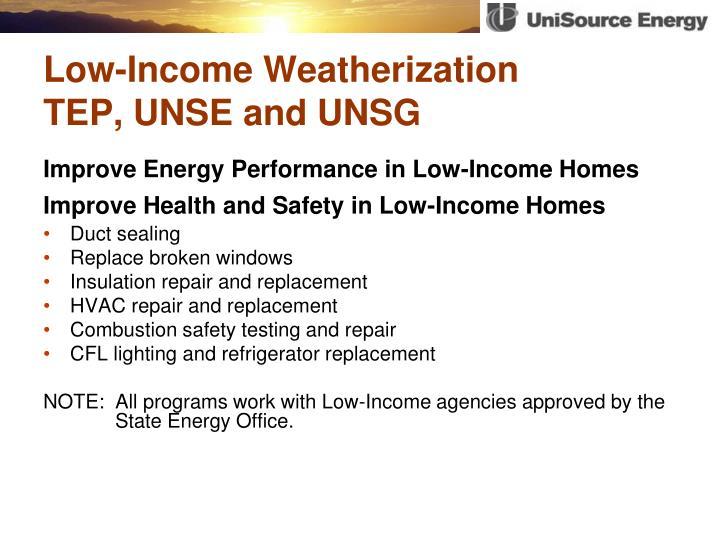 Low-Income Weatherization