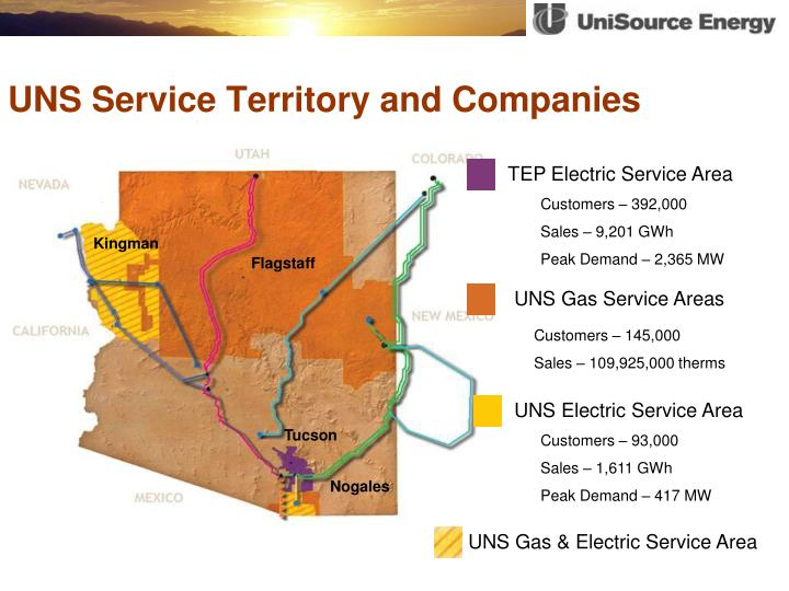 UNS Service Territory and Companies