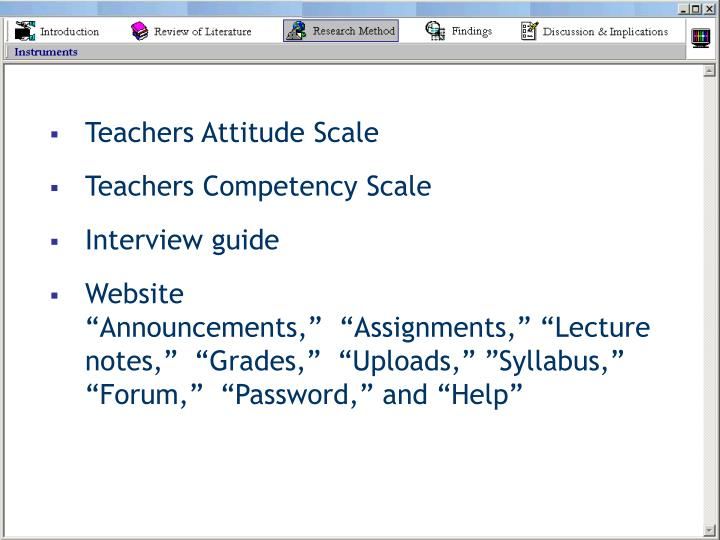 Teachers Attitude Scale