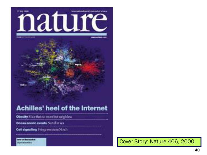 Cover Story: Nature 406, 2000.