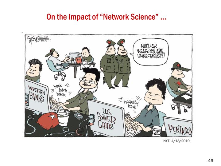 """On the Impact of """"Network Science"""" …"""