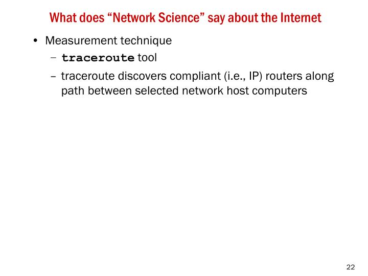 """What does """"Network Science"""" say about the Internet"""
