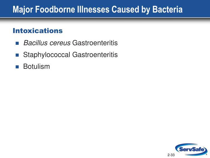 Major Foodborne Illnesses Caused by Bacteria