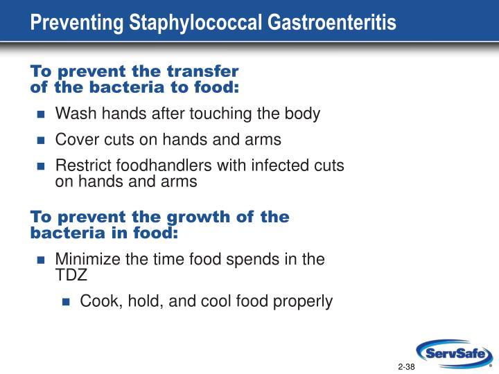 Preventing Staphylococcal Gastroenteritis