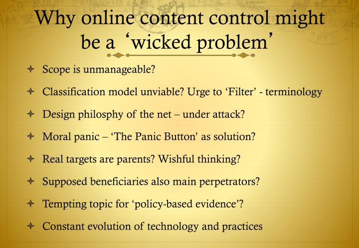 Why online content control might be a