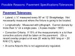 possible reasons pavement specifications tolerances1