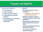 programs and eligibility