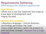 requirements gathering bdd merges two different approaches