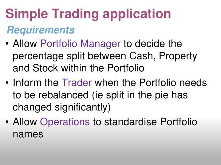 Simple Trading application