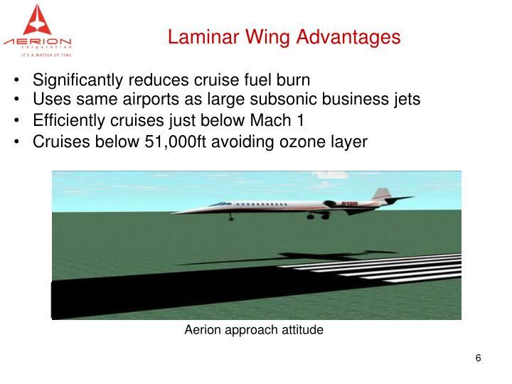 Laminar Wing Advantages
