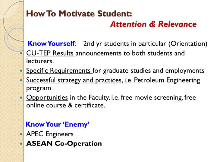 How To Motivate Student: