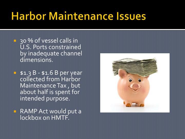Harbor Maintenance Issues