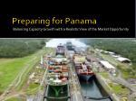 preparing for panama
