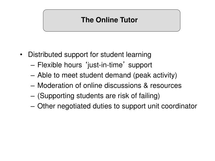 The Online Tutor