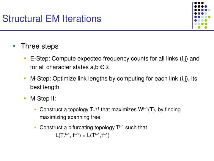 Structural EM Iterations