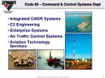 code 60 command control systems dept