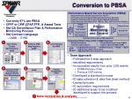 conversion to pbsa