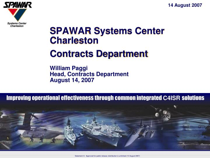 Spawar systems center charleston