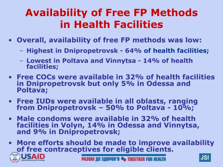Availability of Free FP Methods